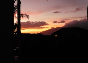 Sunset from our Lanai - WOW!
